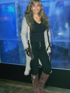 Lorna at Ice Bar